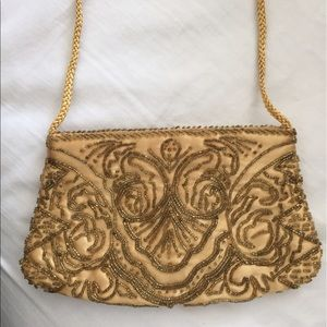 Valerie Stevens Handbags - Final price drop!!!!Gold beaded clutch