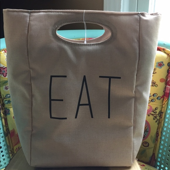Eat Insulated Lunch Bag Rae Dunn Inspired Os From