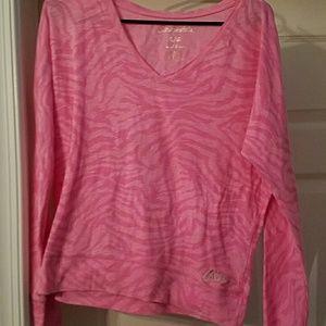 Aeropostale light burnout shirt pink L
