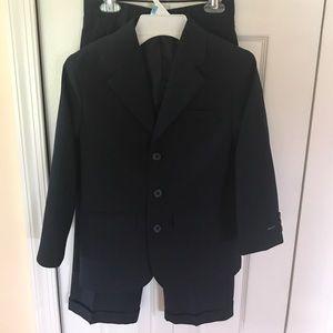 Boys Navy Pinstripe Suit
