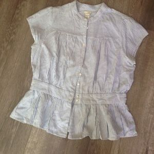 Anthropologie Tops - Anthropologie Odille striped nautical button down
