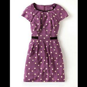 Boden purple polka dot pencil dress 2