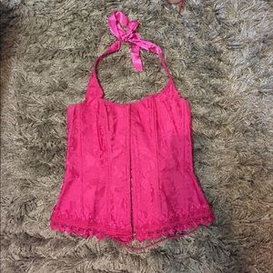 Frederick's of Hollywood Tops - Hot pink corset