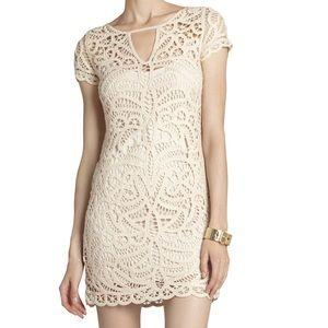 BCBGMaxAzria Dresses & Skirts - BCBG MAX AZRIA LALINDA CROCHET DRESS