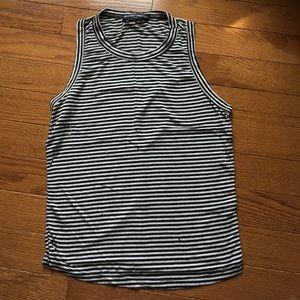 Brandy Melville Black & White striped tank top