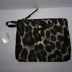 Coach Handbags - COACH Ocelot Pouch NWT