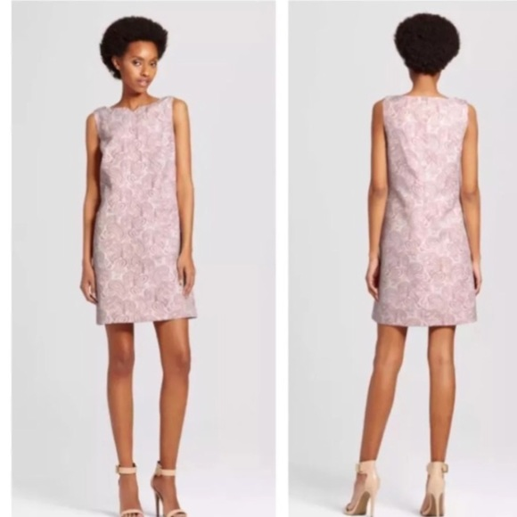 Victoria Beckham For Target Brocade Pink White Nwt