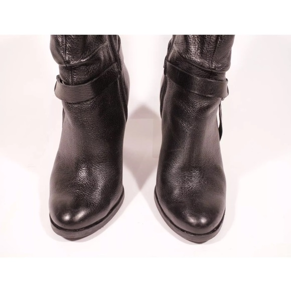 68 guess shoes guess black leather mid calf boots