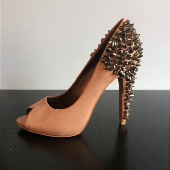 9cbe428d9cd Sam Edelman Lorissa peep toe spiked and stud heels.  M 59175b4bc28456316f0aede5