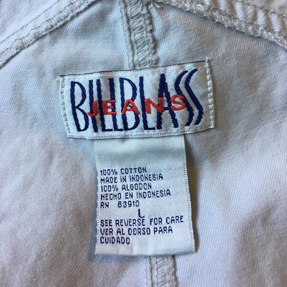 Vintage Jeans - Vintage Short Overalls Khaki Bill Blass Large