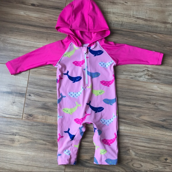 1938da5e78 Coolibar Other - Baby Hooded One Piece Swimsuit 3-6m 💗 SPF 50