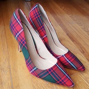 Liliana Shoes - Stunning Plaid Holiday Heels