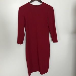 Deep red Vince stretch knit dress size XS