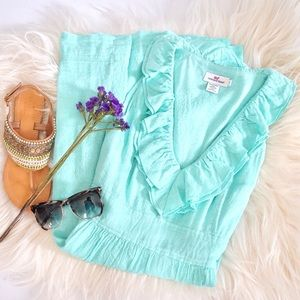 Vineyard Vines Dresses & Skirts - Vineyard Vines Seafoam Green Ruffle Dress