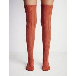 Free People Accessories - FREE PEOPLE Socks Tall Stretchy Long Ribbed Boot