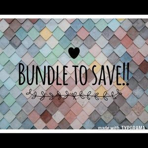 Bundle 2 or more items to save 15% !!!