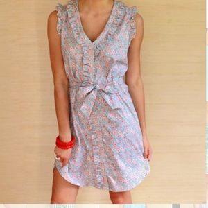 Kayce Hughes Ruffled Floral Dress.