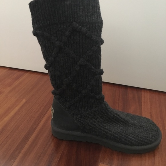 uggs classic argyle knit