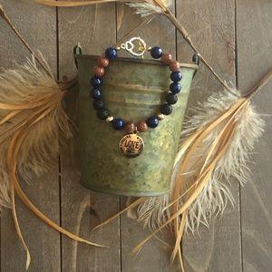 Handmade Jewelry - Handmade Gemstone Beaded Charm Bracelet