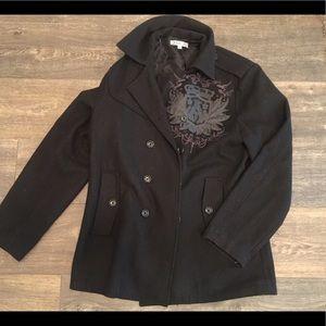 Archaic Other - BlCk men's Pea coat