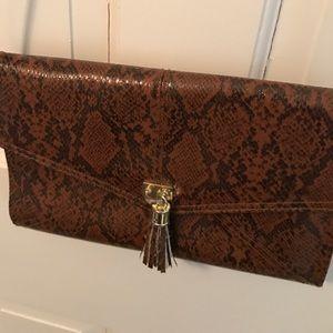 Handbags - leather snakeskin crossbody