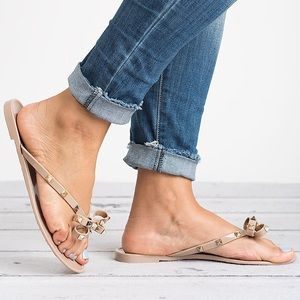 5980d1c92 victoria adames Shoes - Valencia Studded Jelly Sandals-Taupe