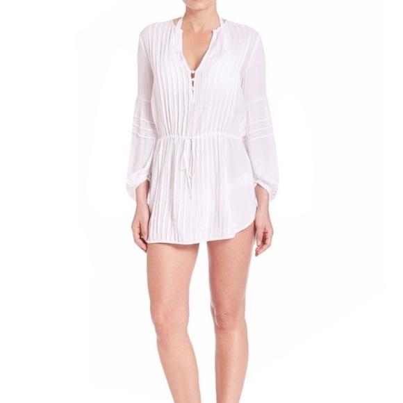 ViX Womens Solid White Paris Tunic Coverup