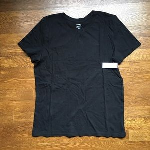 Old Navy short sleeve black cotton tee NWT