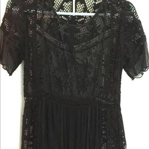 Free People crochet and lace dress