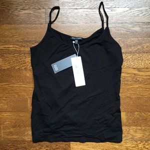 Eileen Fisher black scoopneck cami NWT