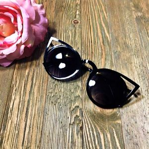 """Accessories - """"Lady Abyss"""" Black cateye cut outs """"invader"""" dupes"""