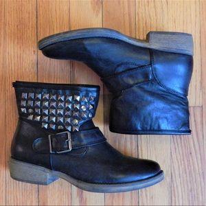 MIA Shoes - MIA Black Studded Ankle Boots Sz 6.5