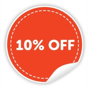 Just for 2 days get 10% discount and free shipping