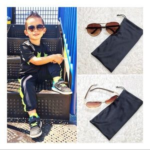 Other - 😎Kids Amber lens Gold Trim Aviators