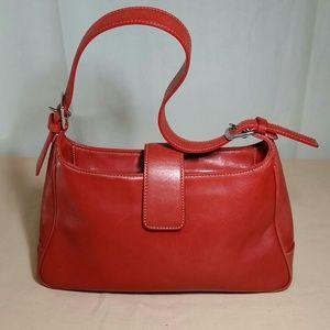 Vintage CUERO VACA Red Leather Bag