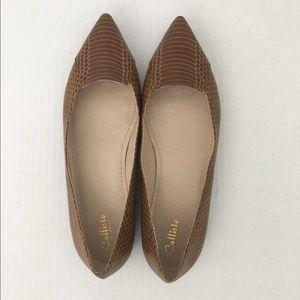 Callisto Shoes - Brown Callisto Flats