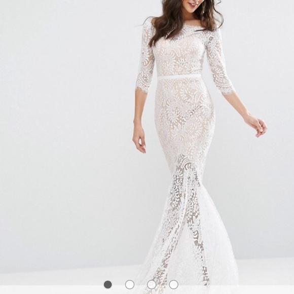 0840af3fd8b Jarlo Dresses   Skirts - Jarlo Bridal Bardot Lace fishtail maxi dress ...