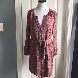 Joie Boho button down silk lined dress