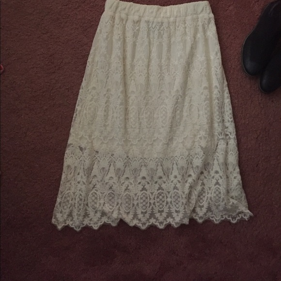 h m colored and h m midi skirt from s