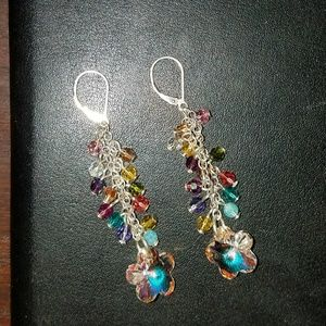 Emily Ray dangle flower earrings
