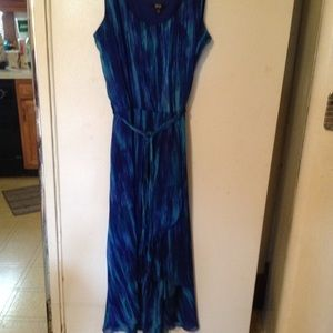 MSK Dresses & Skirts - MSK blue sleeveless maxi dress size 14