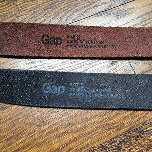 GAP Accessories - Pair of Gap leather belts, brown and black, size S