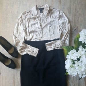 White House Black Market Tops - *3 FOR 30* WHBM Button Up Shirt