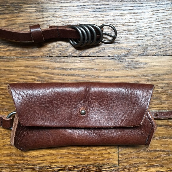 humanoid Accessories - Humanoid leather belt with attached coin purse