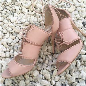 LK Bennett Shoes - Lk Bennett scallop lace up heels nude/pink
