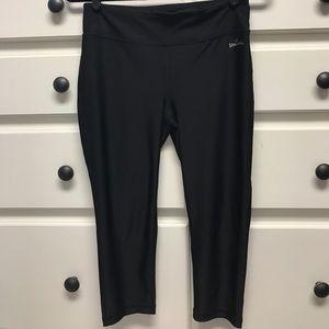 Spalding Pants - Black athletic cropped legging Spalding size M