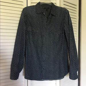 J. Crew Keeper chambray shirt in star dot