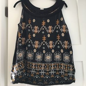 EUC Anthropologie Tribal tank, sz M