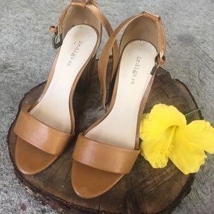 Indigo Rein Shoes - Camel Block Heels 🌼
