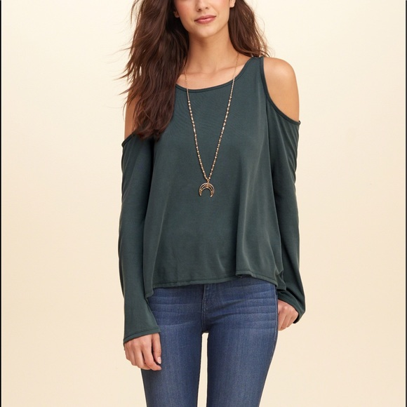 80316cb4903aee Hollister Tops | Sueded Jersey Cold Shoulder Top | Poshmark